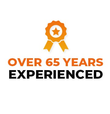 Over 65 years experienced