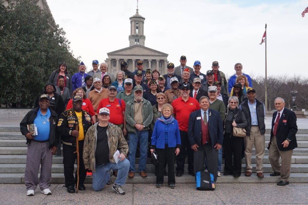 A Group of Veterans Outdoors
